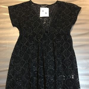 Lace coverup size medium New with tags
